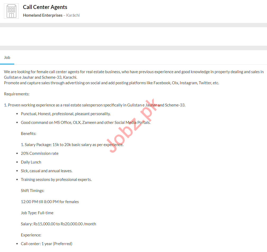 Call Center Agents Jobs 2020 in Karachi