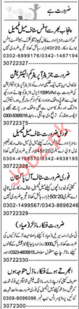 Express Sunday Multan Classified Ads 26 Jan 2020