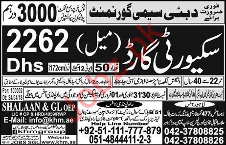 Semi Government Company Job 2020 For Security Guard