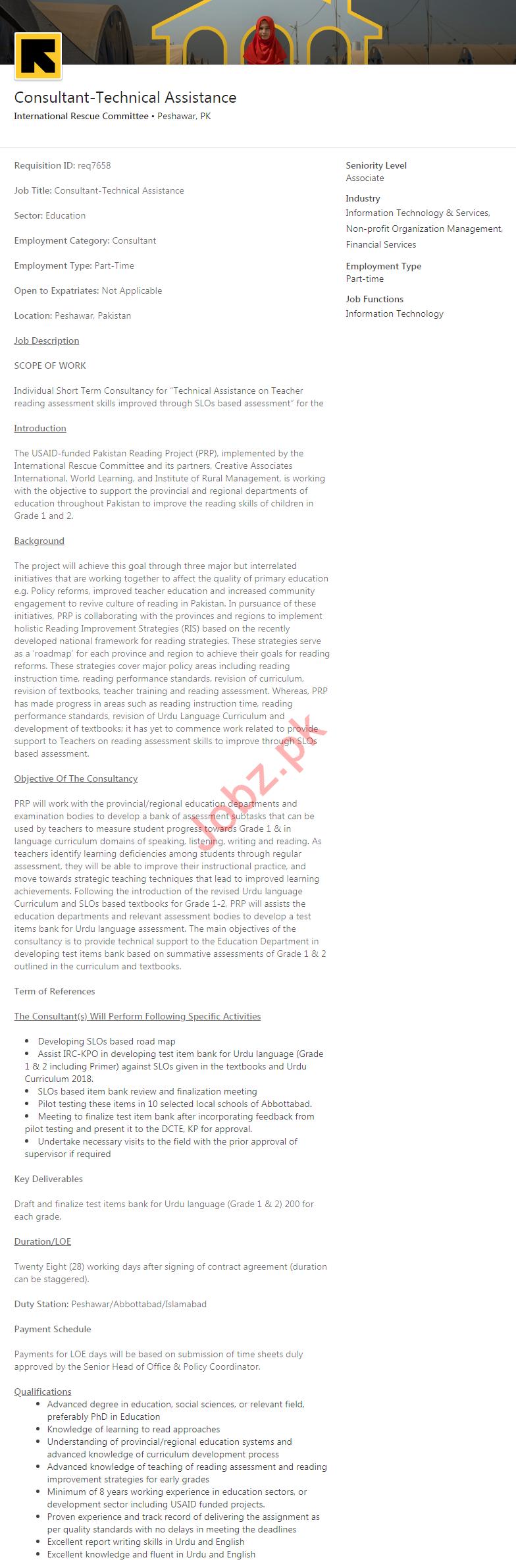 International Rescue Committee IRC NGO Jobs 2020