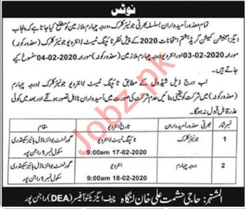 District Education Authority DEA Rajanpur Jobs 2020