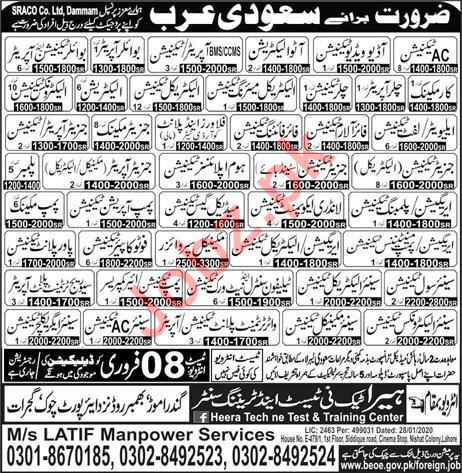 Technical Staff Jo bs SARCO Co Limited Saudi Aabia