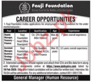 Fauji Foundation Jobs 2020 in Rawalpindi