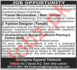 Multinational Apparel Group Management Jobs 2020