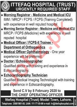 Ittefaq Hospital Trust Medical Staff Jobs 2020