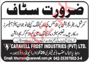 Caravell Frost Industries Pvt Ltd Jobs 2020 For Lahore