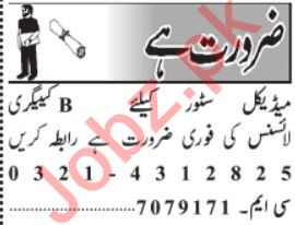 Medical Staff Jobs 2020 For Medical Stores in Lahore