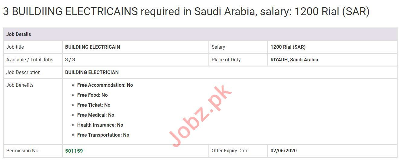 Building Electricians Jobs 2020 in Saudi Arabia