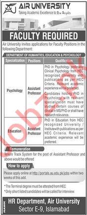 Air University Assistant Professor Jobs 2020