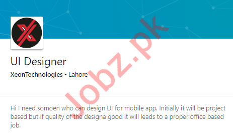 Xeon Technologies Software Company Lahore Jobs 2020