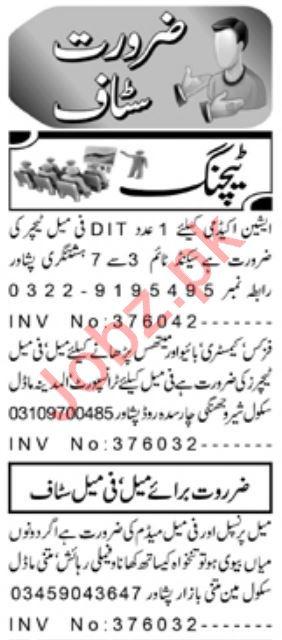 Daily Aaj Newspaper Classified Teaching Ads 2020