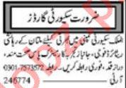 Security Guards Jobs 2020 in Multan