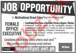 Office Executive Job 2020 in Lahore