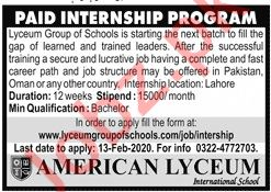 American Lyceum International School Jobs 2020