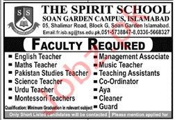 The Spirit School Soan Garden Campus Islamabad Jobs 2020