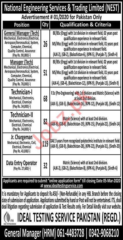 National Engineering Services & Trading Limited Jobs 2020