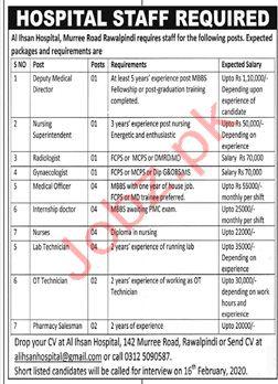 Al Ihsan Hospital Rawalpindi Jobs 2020