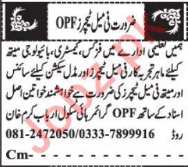 Overseas Pakistanis Foundation OPF Jobs 2020