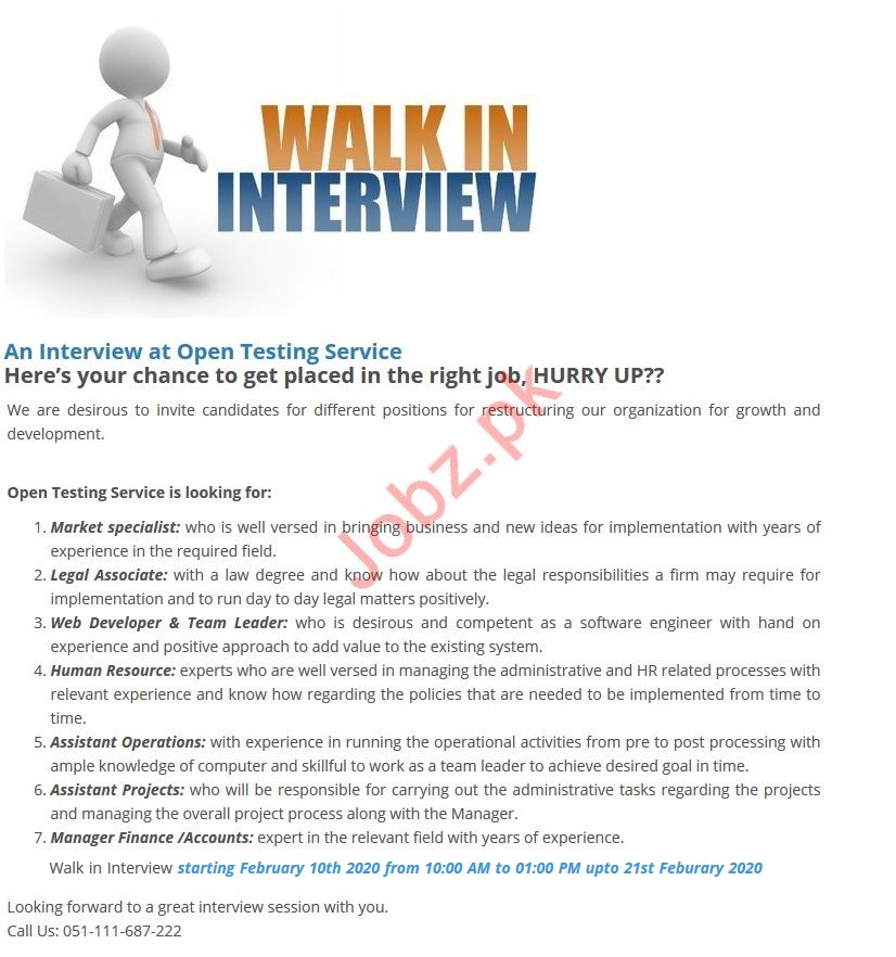 Open Testing Service OTS Jobs Interviews 2020