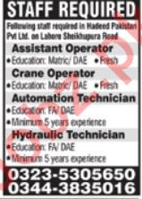 Hadeed Pakistan Private Limited Management Jobs 2020