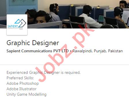 Sapient Communications Rawalpindi Jobs for Graphic Designer