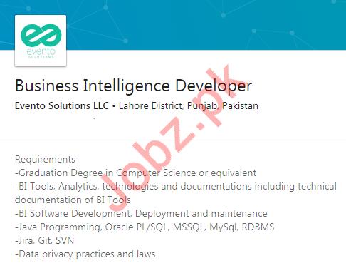 Business Intelligence Developer Jobs in Evento Solutions LLC