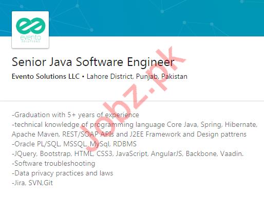 Java Software Engineer Jobs in Evento Solutions LLC