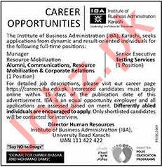 IBA Institute of Business Administration Karachi Jobs 2020