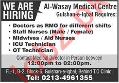 Al Wasay Medical Centre Karachi Jobs 2020