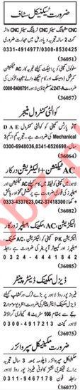 Nawaiwaqt Sunday Classified Ads 16 Feb 2020 Technical Staff