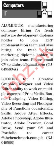 The News Sunday 16th February Computer & IT Jobs 2020 in KHI