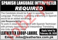 Spanish Language Interpreter Jobs in Leathertex Group