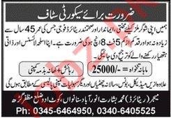 Sugar Mills Secuerity Staff Jobs 2020 in Muzaffargarh