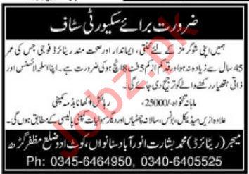 Security Guards Jobs 2020 in Muzaffargarh