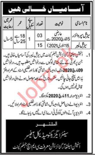 Station Health Organization Jobs 2020 in Jhelum