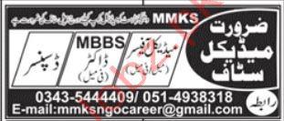 MMKS NGO Jobs in Rawalpindi