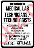 Citi Lab & Research Center Jobs 2020 in Lahore