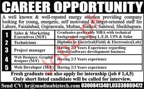 Madina Biz Tech Company Jobs 2020