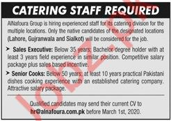 Catering Staff Jobs 2020 in Lahore, Gujranwala & Sialkot