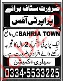 Property Office Jobs in Bahria Town Rawalpindi