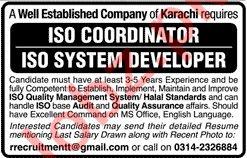 ISO Coordinator & ISO Developer Jobs in Private Company