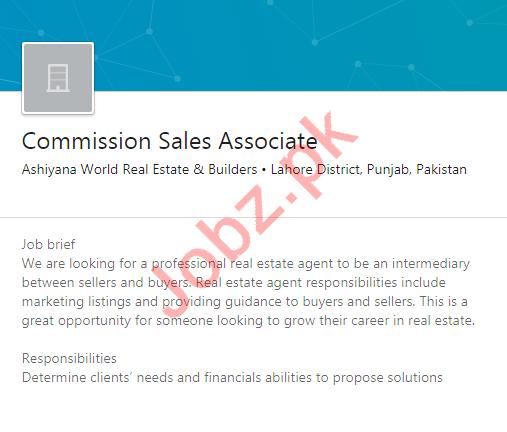 Ashiyana World Real Estate & Builders Lahore Jobs 2020