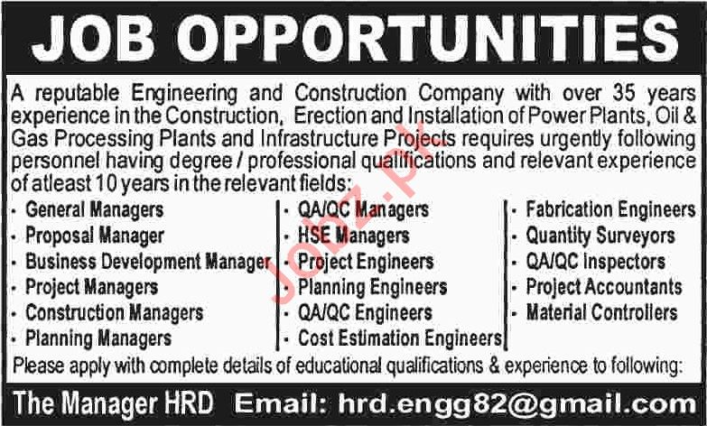 HSE Manager & Project Accountant Jobs 2020 in Karachi
