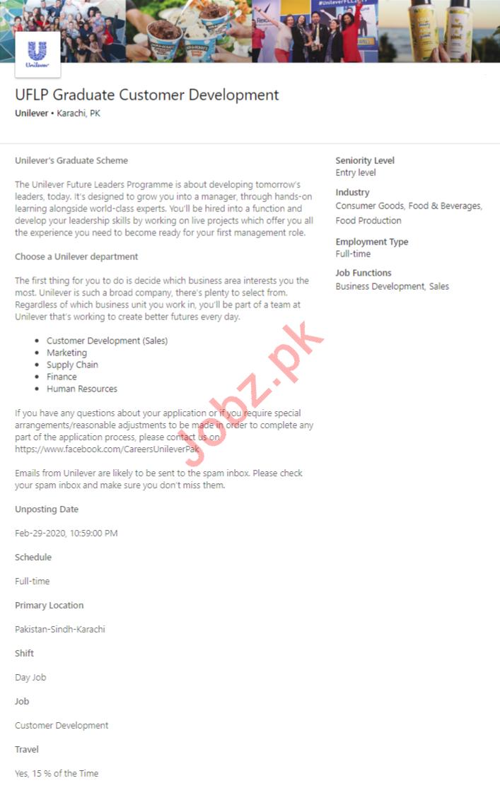 UFLP Graduate Customer Development Job 2020 in Karachi