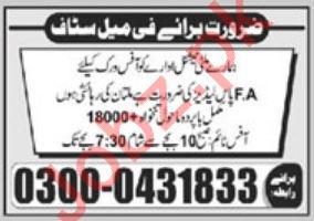 Male & Female Staff Jobs 2020 in Multan