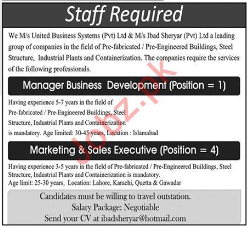 Manager Business Development & Executives Jobs 2020