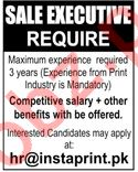 Sales Executive Jobs in Insta Print Private Limited