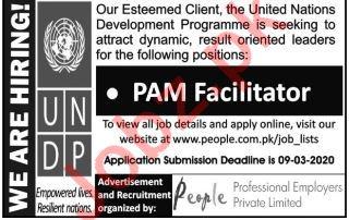 PAM Facilitator Jobs in United Nations Development Program