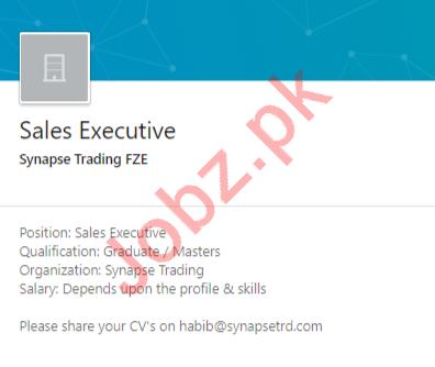 Sales Executive Job 2020 in Quetta