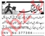 Daily Aaj Marketing Staff Jobs 2020 in Peshawar